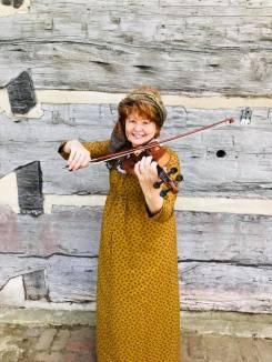 Debbie Lewis playing violin